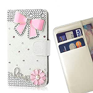 Crown Butterfly Bow Love Crystal Diamond Waller Leather Case Cover 3D Bling For LG G4/H818 /- THE- /