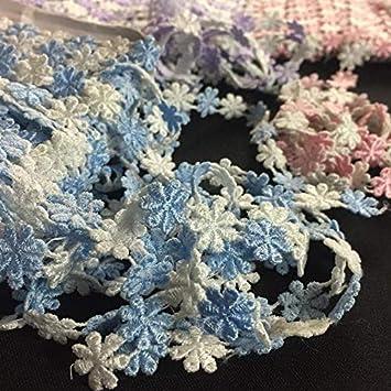 Lavander Many Uses ex: Garments Sash Waistband Headband Decoration Crafts Alternating Color Daisy Flowers Venise Choose Color White Pink Blue Lavender White Lace Trim Braid 1//2 Wide 5 Yards