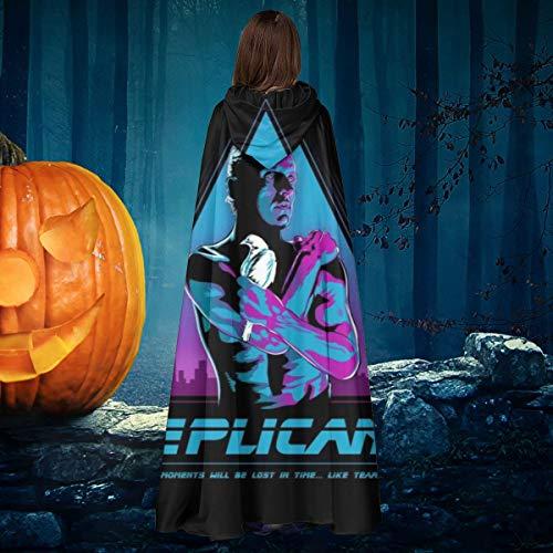 Like Tears in Rain Blade Runner Unisex Christmas Halloween Witch Knight Hooded Robe Vampires Cape Cloak Cosplay Costume Black