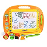 Chilartalent Magnetic Drawing Board for Kids Toddlers - Large Magna Doodle Boards Erasable Writing Learning Paintings Pad Education Toy - with Stylus, Stamps, Stencils