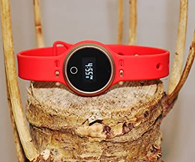 Feel good with Fashion Design MW8 Smart Bluetooth Touch Screen Fitness tracker wristband watch. Black, Blue & Red Bracelet set. Pedometer & Sleep monitoring. iPhone & Android. Best Buy Christmas Gift
