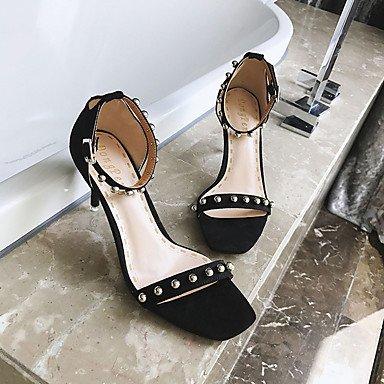 pwne Sandalias De Mujer Zapatos Club Pu Lana Vestidos Primavera Verano Casual Cordón Hebilla Stiletto Talón Rubor Rosa 3In-3 Negro 3/4En Negro Us8 / Ue39 / Uk6 / Cn39 US8 / EU39 / UK6 / CN39