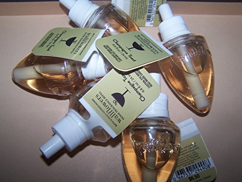 Lot of 5 Bath & Body Works Champagne Toast Wallflower Home Fragrance Refill Bulbs (Scented)