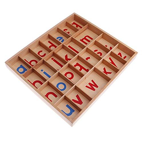 MagiDeal Lettres Mobiles Boîte Alphabets Montessori En Bois Jouets Educatif Pour Enfants