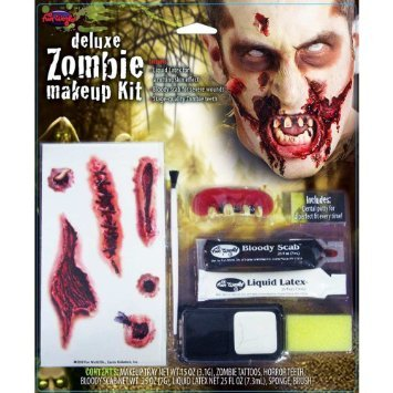 Morris Costumes Zombie Deluxe Makeup Kit