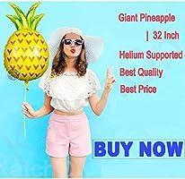 Oban 3PCS Giant Pineapple Helium Balloons Decorations Fruit