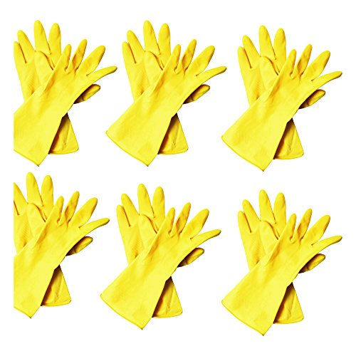 Yellow Rubber Gloves - 3
