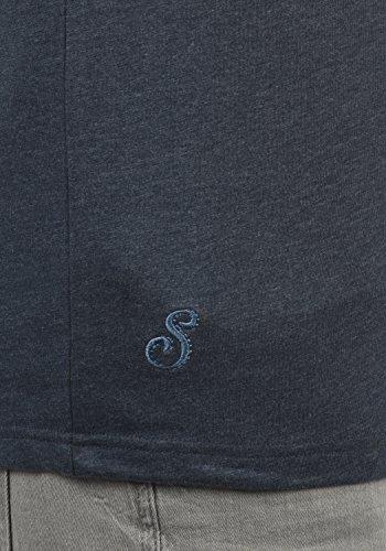 Redondo Cuello Corta De Ilari 100 T p8991 Hombre Algodón Básica Con Para M solid Ins Manga Blu Camiseta shirt w7XPPC