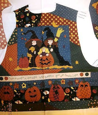 Halloween Vest Which Witch & The Who Fabric Panel By Leslie Beck ()