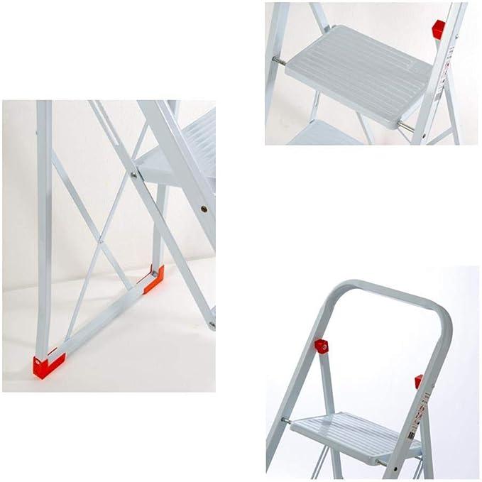 YIGEYI Taburete Escalera Escalera del taburete Anti Slip banda de rodadura 2 taburete de paso for trabajo pesado de aleaci/ón de aluminio de la carga m/áxima de 150 kg Silla plegable port/átil de almacen