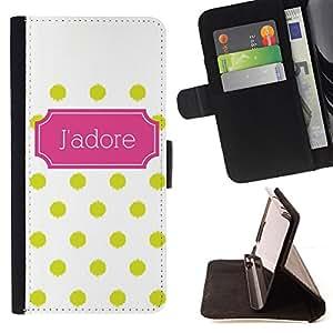 """For LG G4c Curve H522Y (G4 MINI), NOT FOR LG G4,S-type Modelo de lunar del art déco poster"""" - Dibujo PU billetera de cuero Funda Case Caso de la piel de la bolsa protectora"""