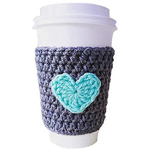 crochet coffee cup sleeve - 9