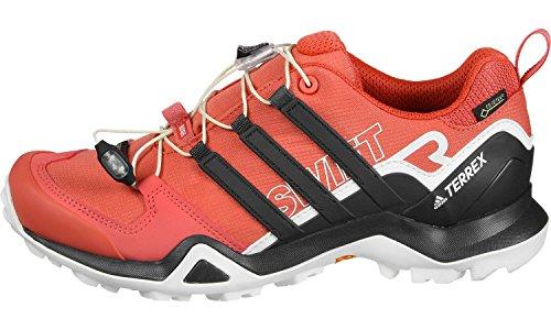 adidas Damen Terrex Swift R2 GTX Cross-Trainer, Schwarz, 43.3 EU Rot (Trace Scarlet/Carbon/Chalk White)