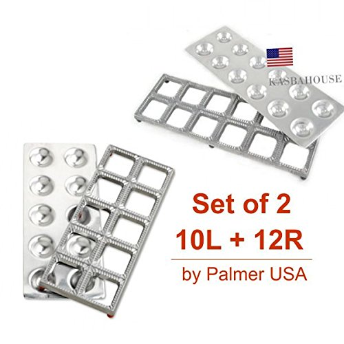 Palmer Large Ravioli Molds Makes 2.5 and 2.0 Inches set by Palmer USA
