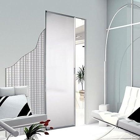 Contramarco para puertas correderas Scrigno Essential 80 x 210 cm para yeso espesor pared 100 mm