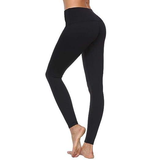 632adf5ab8846 Kanzd Women Pants Women's High Waist Solid Yoga Pants Workout Running  Sports Leggings Pants (Black