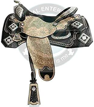Size 10 to 13 Inches Seat Available ME ENTERPRISES Silver Genuine Cowhide Leather Western Pleasure Show Horse Saddles