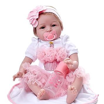 Juguetes del bebé,Hecho a Mano Realista bebé realistas bebé muñeca Renacida muñeca recién Nacidos Juguetes de Silicona LMMVP (Unos 55 ...