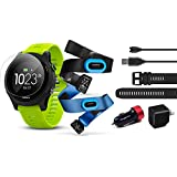 Garmin Forerunner 935 (Tri-Bundle) Power Bundle | Includes HRM Tri & Swim Chest Straps, Glass Screen Protector (x2), Extra Silicone Band (Black), PlayBetter USB Car/Wall Adapters | GPS Training Watch
