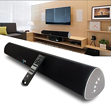 TV Soundbar, 34-Inch 2.0 Channel Sound Bar TV Wireless Surround Sound Systems With Optical Coaxial Bluetooth 4.0 for TVs Phones Tablets PSP PCs by YCCTEAM