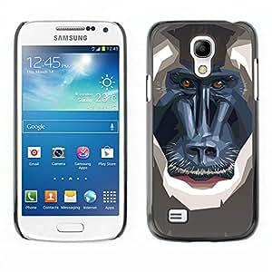 All Phone Most Case / Oferta Especial Duro Teléfono Inteligente PC Cáscara Funda Cubierta de proteccion Caso / Hard Case Samsung Galaxy S4 Mini i9190 // Polygon Monkey Baboon