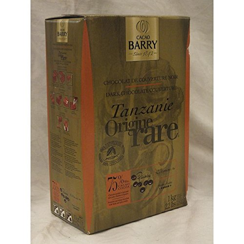 Cacao Barry Dark Chocolate Cuverture Tanzanie Origine 75% (Zartbitter Kuvertüre aus Tansanischem Kakao)