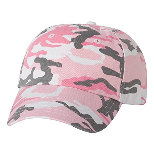 Adult Bio-Washed Unstructured Cap, Color: Pink Camo, Size: One Size ()