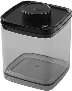 Ankomn Turn-N-Seal vacuum/airtight moisture prevent storage container perfect for Coffee Teas Rice Nuts Medicine opaque (Semi-Black, 2.5quart)
