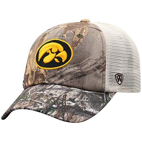 24ae886f3ccd0 Iowa Hawkeyes Camouflage Caps. NCAA Iowa Hawkeyes Men s Camo Stock  Adjustable Mesh Icon Hat ...