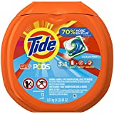 Tide PODS 3 in 1 HE Turbo Laundry Detergent Pacs, Ocean Mist Scent, 72 Count Tub (Packaging May Vary)