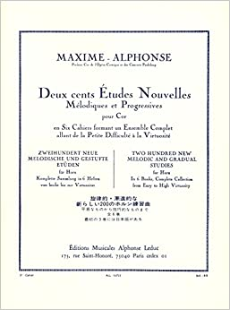Book Alphonse: 200 New Melodic and Gradual Etudes - Volume 3