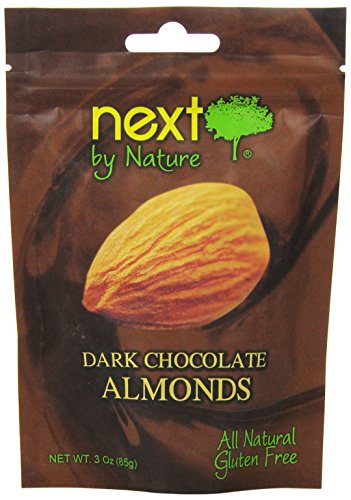 Next by Nature Dark Chocolate, Almonds, 3 Ounce (Pack of 12)