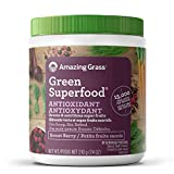 Amazing Grass Green Superfood Antioxidant Organic Powder with Greens & Acai, Flavor: Sweet Berry 30 Servings, 7.4 Ounces