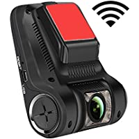 LeadEdge Car Dash Cam Dashboard Camera Recorder Full HD 1080P,WiFi,With 2.45 IPS LCD,7-Layers Glass Lens,170 Degree Wide Angle,Night Vision,WDR,G-sensor,Parking Monitor,Loop Recording