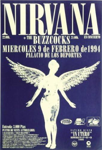 Classic Posters Póster de Nirvana (40 x 30 cm), diseño de ...