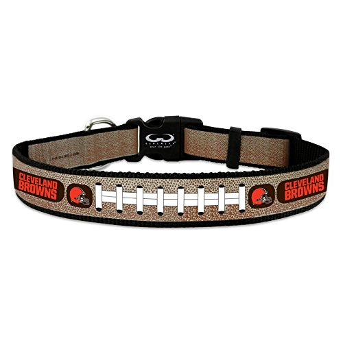 Cleveland Browns Reflective Medium Football Collar,Medium,Silver ()