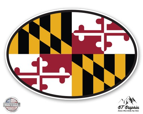 Maryland State Flag Oval - 5