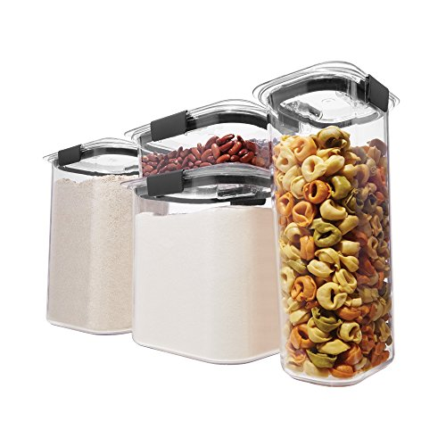 Mushroom Canister Set - Rubbermaid 1994253 Brilliance Pantry Airtight Food Storage Container, Set, 8-Piece Small