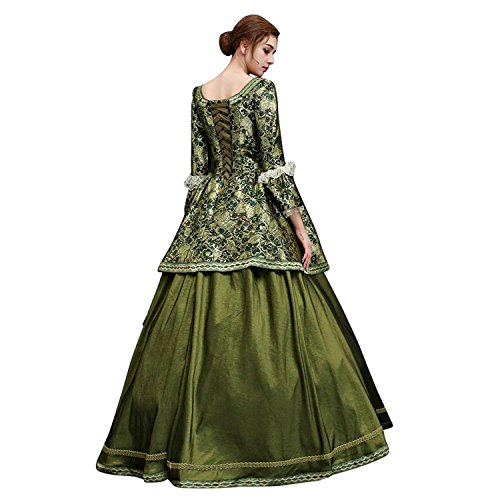 Zukzi Women's Floor Length Victorian Dress Costume Masquerade Ball Gowns, X7932, Customized by Zukzi (Image #2)