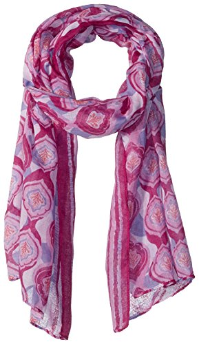 Free Scarf - White Sierra Bug Free Printed Gauze Scarf, Orchid, 1 Size