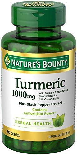 Natures Bounty Turmeric Supplement Antioxidant