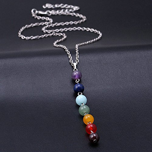 Chakra Drop Pendant Necklace