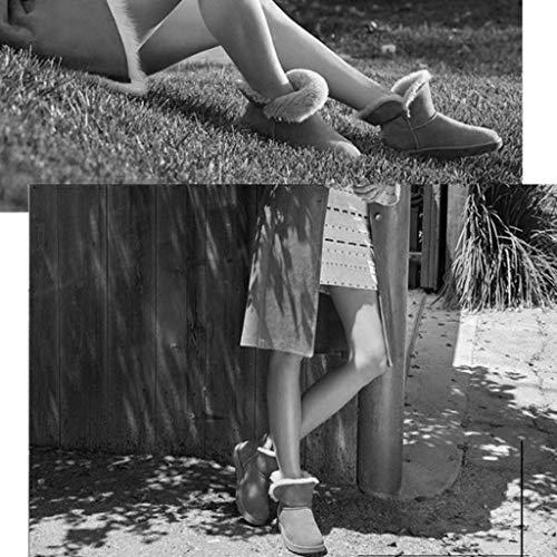 Outdoor Scarpa Stivali Scarpe In Casual Di Neve Pelle Donna Stivaletti Camping Da Antiscivolo Lana Inverno Impermeabili Trekking Mm Autunno Calzature 17 Black E PvdqIq