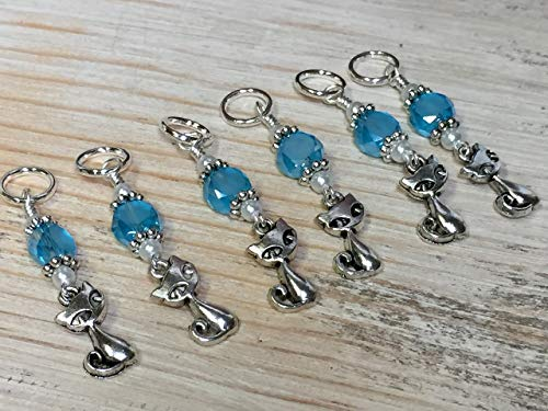 (Cat Stitch Marker Jewelry for Knitters)