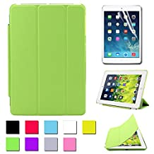 Besdata Ultra Thin Magnetic Smart Cover & Back Case For Apple iPad Mini + Screen Protector + Cleaning Cloth + Stylus - Green - PT2506