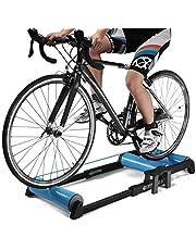 اداة التدريب على ركوب الدراجات بتصميم تيليسكوبي قابل للطي، اداة تدريب داخلي ثابتة للتدريب على ركوب دراجات الطرق والدراجات الجبلية باسطوانة دوارة