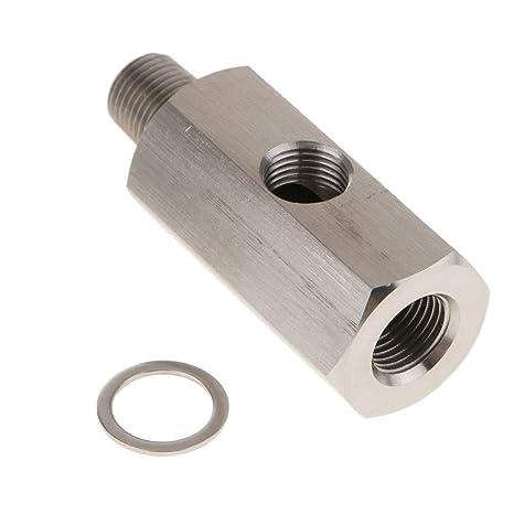 D DOLITY Sensor de Presión de Aceite de Coche Adaptador de Turbo BSPT a NPT Indicador