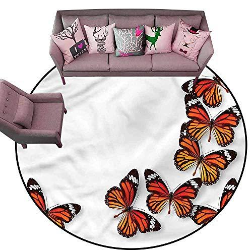 Multi-USE Floor MAT Butterflies,Spring Monarch Bug Diameter 78