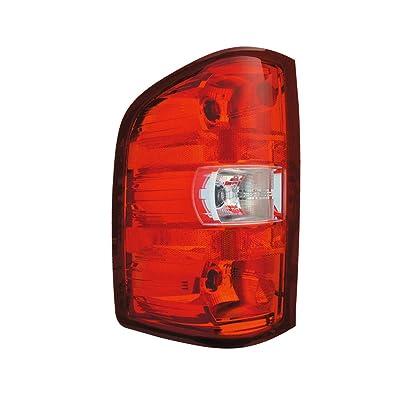 Epic Lighting OE Style Replacement Rear Brake Tail Light Assembly for 2007-2014 Chevrolet GMC Silverado Silverado Hybrid Sierra [ GM2800207 25877454 ] Left Driver Side LH: Automotive