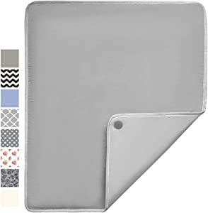 Gorilla Grip Premium Ironing Pad, Magnetic Laundry Pad, 28 x 24 Inch, Heat and Scorch Resistant, Iron Board Mat for Table Top, Washer, Dryer, Durable Pads Great for Travel, Silver